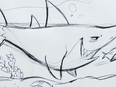 How to Draw a Cartoon Shark (Step by Step)