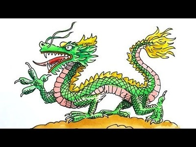 How to Draw a Chinese Dragon for Chinese New Year