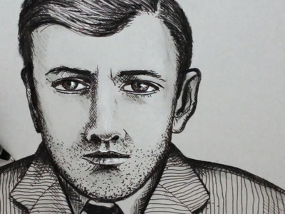 How to Draw a Face of a Man: Pen Portrait