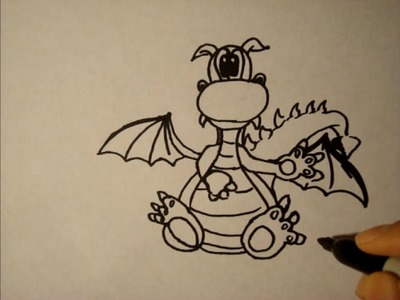 How to Draw a Dragon|Head|Easy|Step By Step|For Beginners|Como dibujar un dragon paso a paso