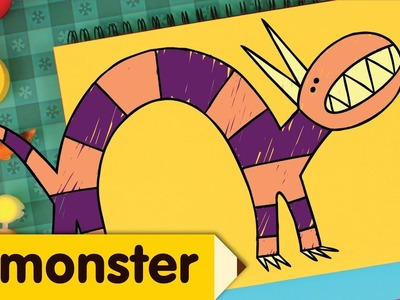 How To Draw A Monster | Drawing Lesson for Kids | Step By Step