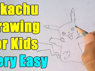 How to Draw a Pokemon Go Character Pikachu