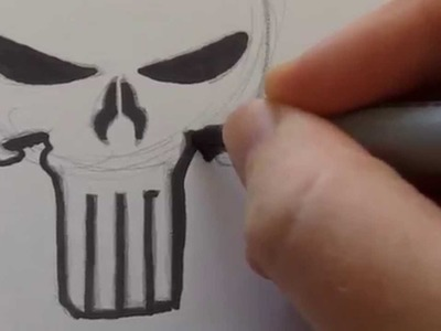 How To Draw A Punisher Skull