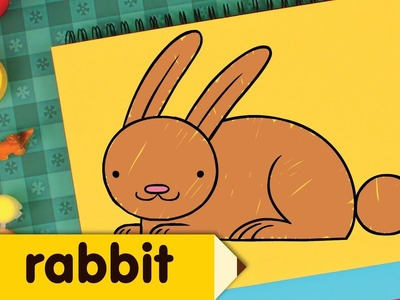 How To Draw A Rabbit | Easy Drawing Lessons for Kids
