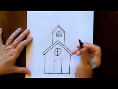 How to Draw a Schoolhouse School House Easy Free Online Drawing Tutorial   YouTube