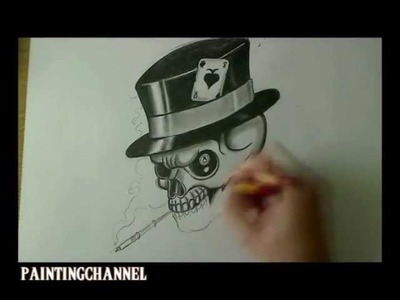 How to draw a Skull - Tattoo Design