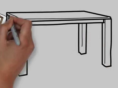 How to draw a table step by step for kids - Easy drawing for kids step by step #3