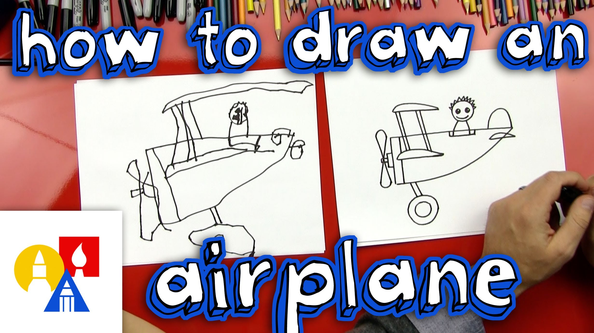 How To Draw An Airplane (For Young Artists)
