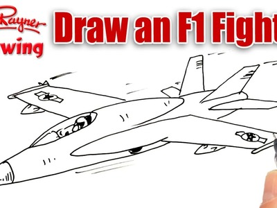 how to draw an f 18 fighter plane
