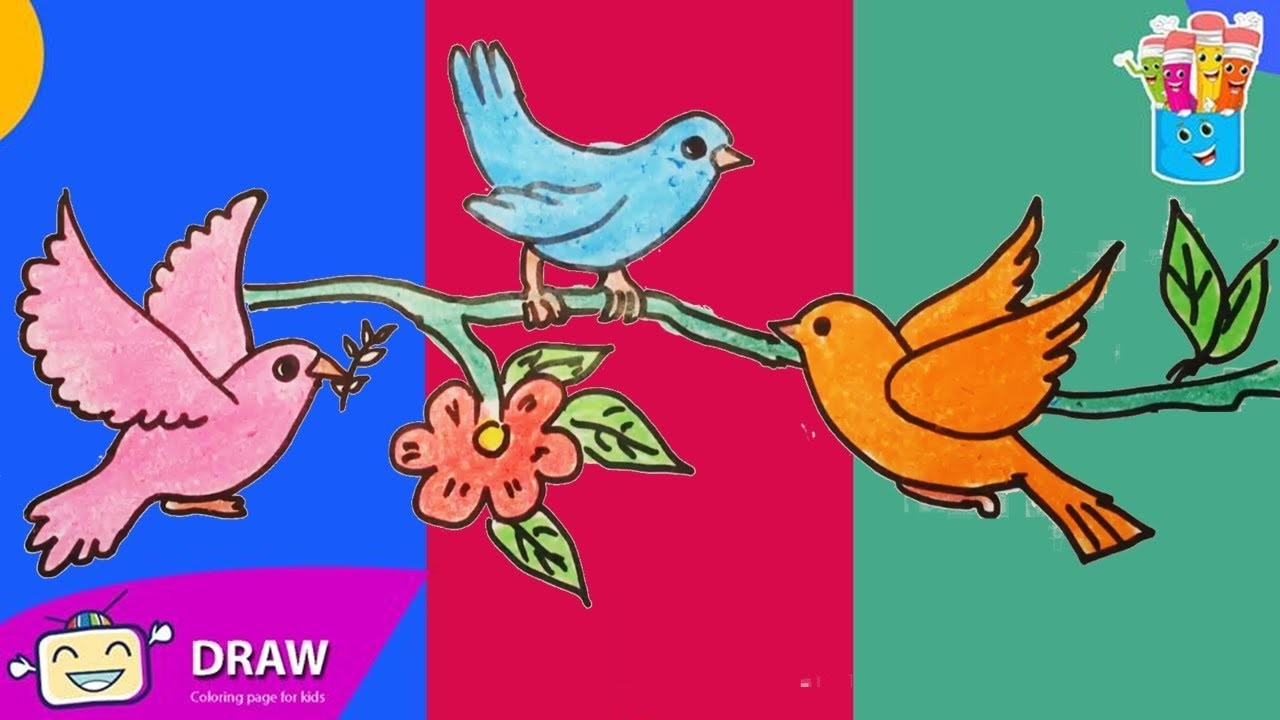 Yellow Cake Recipe Laura Vitale: How To Draw Birds, Flowers, Coloring Pages For Kids