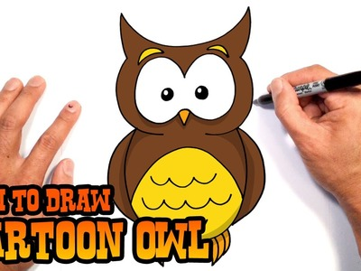 How to Draw Cartoon Owl | Drawing Lesson
