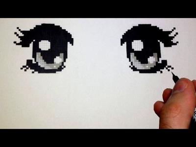 How to Draw Manga Eyes - PIXEL Version