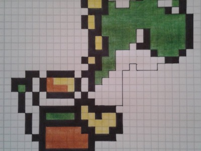 How to: draw pixel Yoshi Super Mario World