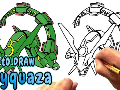 How to Draw Rayquaza from Pokemon (NARRATED)