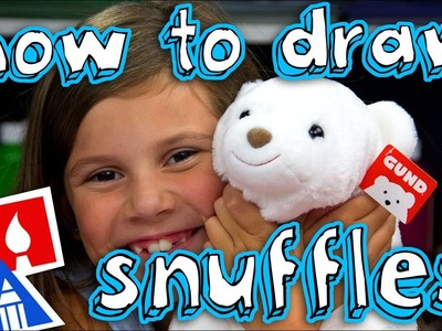 How To Draw Snuffles The Cutest Polar Bear (giveaway)