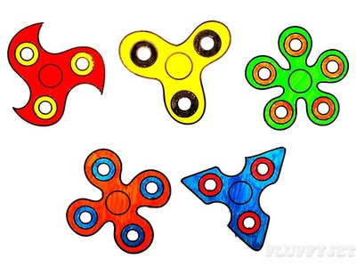How to Draw Spinners Coloring Pages Youtube Videos for Kids Learning Drawing & Play-Doh