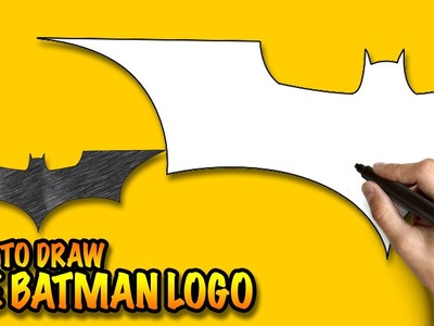 How to draw the Batman Logo - Easy step-by-step drawing lessons for kids