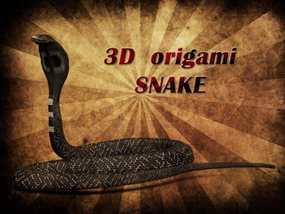 How to make 3d Origami Snake (updated)