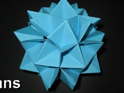 How to make an Origami Spiky Cuboctahedron (Complete folding instructions)