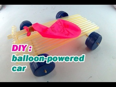 How to make simple car  powered balloon