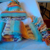 Jacket, hat and scarf set