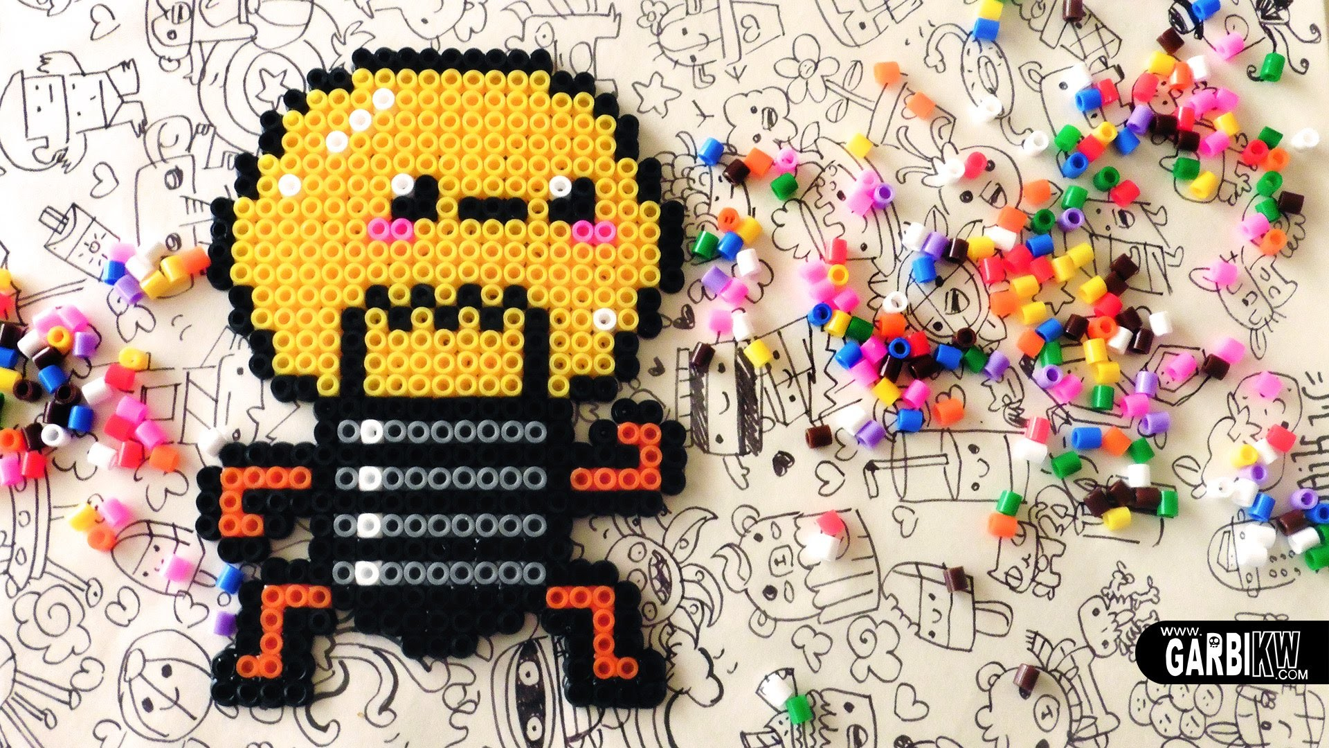 Kawaii Bulb - Hama Beads Designs by Garbi KW #pixelart