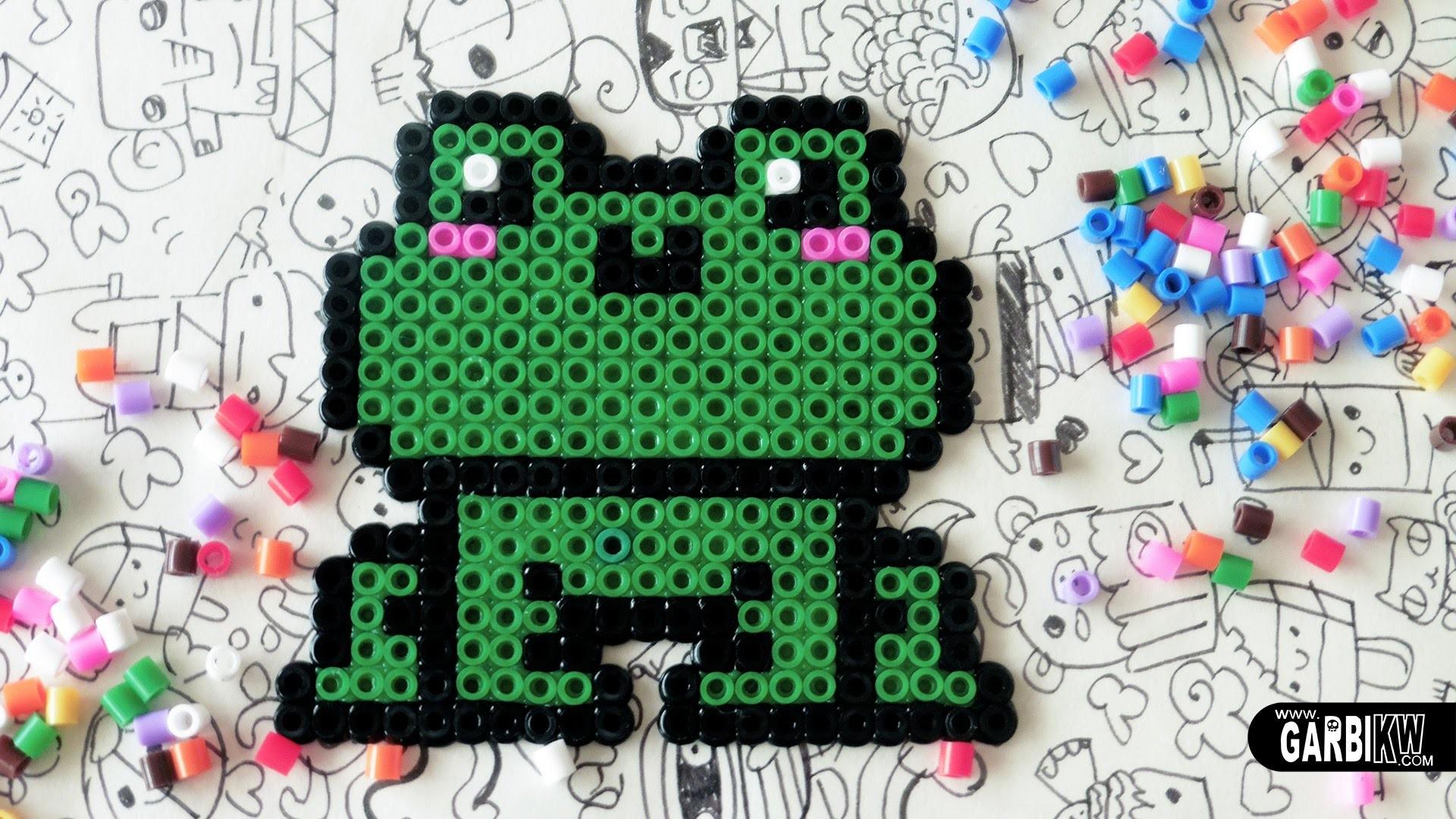 Kawaii Frog - Hama Beads Designs by Garbi KW #pixelart