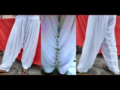 Khajoori salwar net cloth cutting and stitching