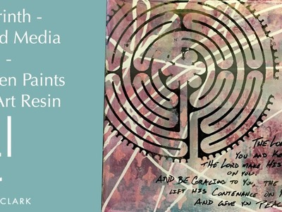 Labyrinth - Mixed Media Panel - Golden Paints and Art Resin (EP3)