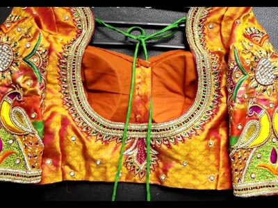 Latest Peacock Embroidery Blouse || Saree Blouse