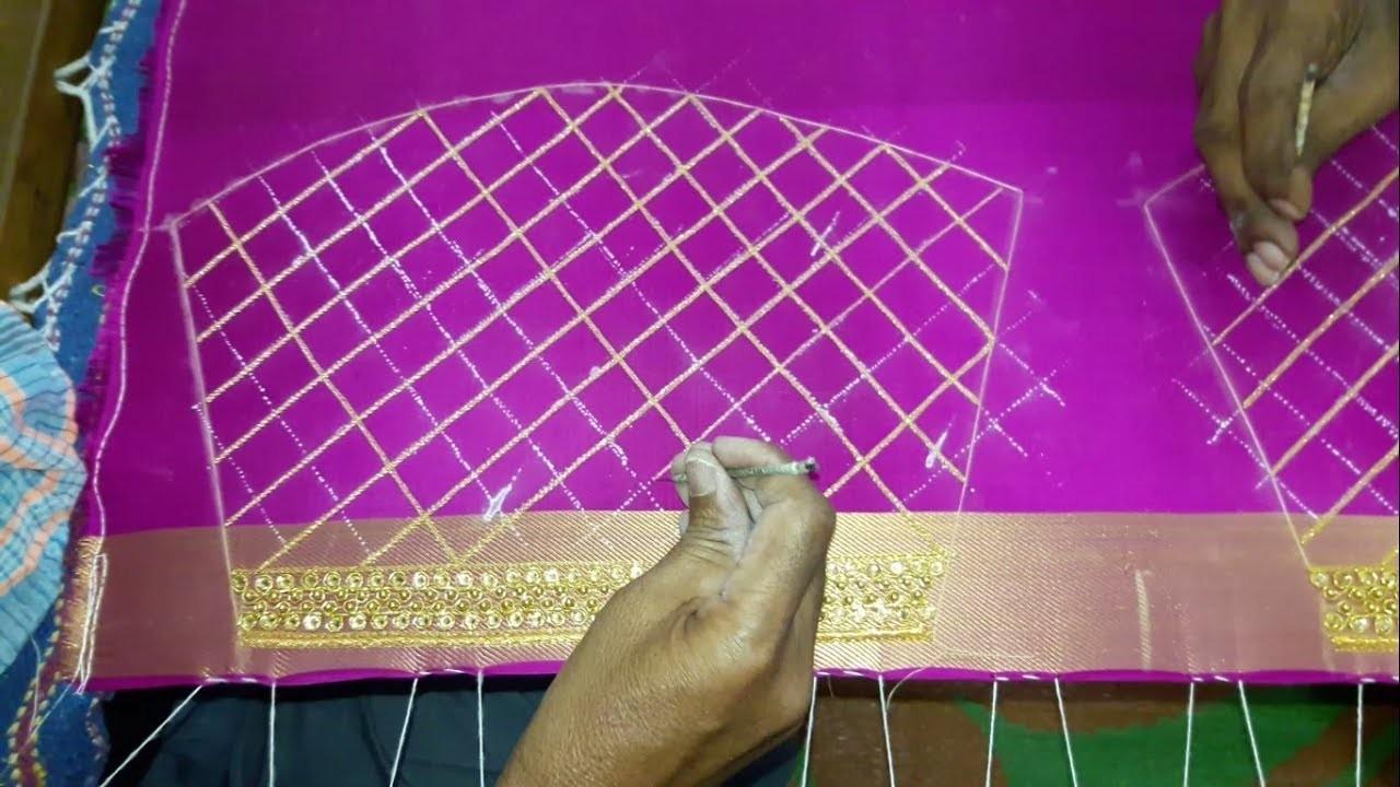 Making of Checks pattern blouse making