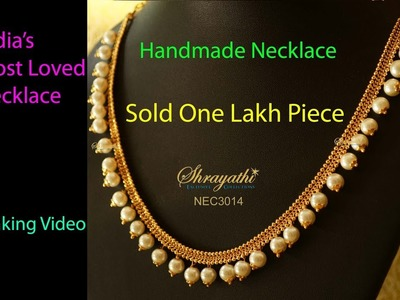 Making Video Of India's Most Sold White Beaded Necklace, Loved Pearl Necklace