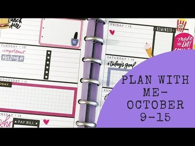 Mini Plan with Me- October 9-15