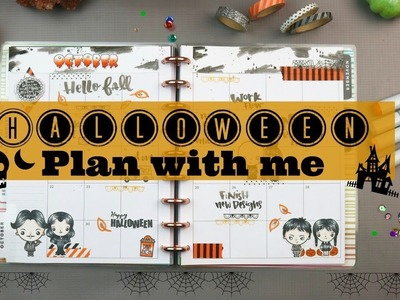 October Plan With Me| Happy Planner | Stamping & Watercolors