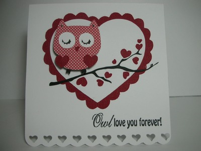 Owl Love you Forever Valentine's Day card