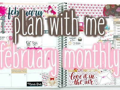 Plan With Me ♡ February Monthly (ScribblePrintsCo)