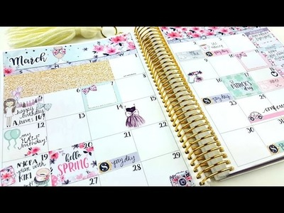 Plan with Me: March Monthly ft. Hello Petite Paper!