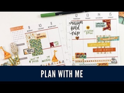 Plan With Me: October 9-15, 2017 [tombow + stickers in Create 365 The Happy Planner® tutorial]