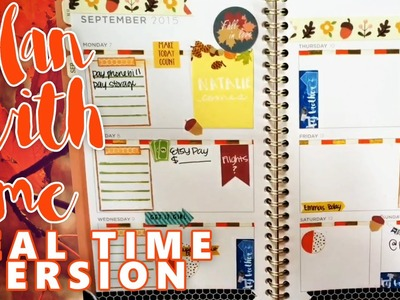 PLAN WITH ME & REVIEW: WEEK 37 IN MY MEAD PLANNER - FALL THEME - REAL TIME VERSION