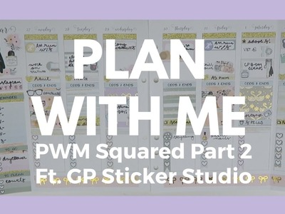 PLAN WITH ME SQUARED Part 2. Leftovers from GP Sticker Studio Kit!