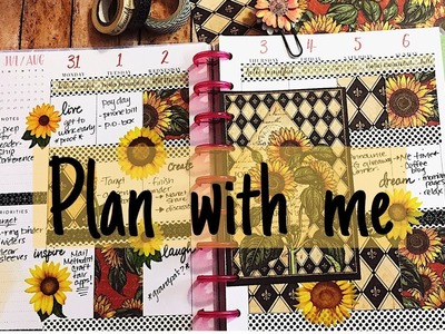 Plan With Me | Sunflower Fields | Happy Planner