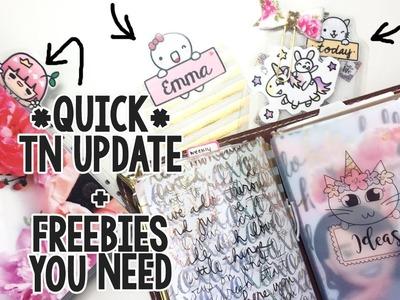QUICK TRAVELERS NOTEBOOK UPDATE + FREEBIES YOU NEED!!   InspiredBlush