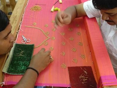 Sally and Beads work on a Beautiful Kurta - Full Process