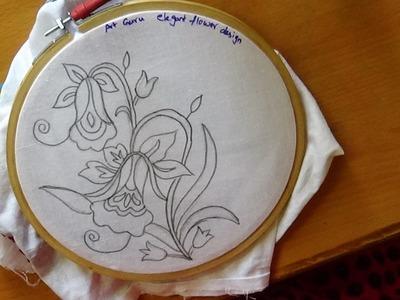 Simple Embroidery Art - Sketch Designs -  Elegant floral Designs