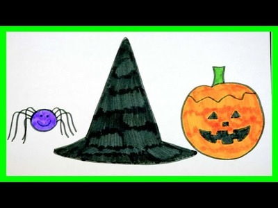 Speed Drawing Halloween Pictures (FOR KIDS)