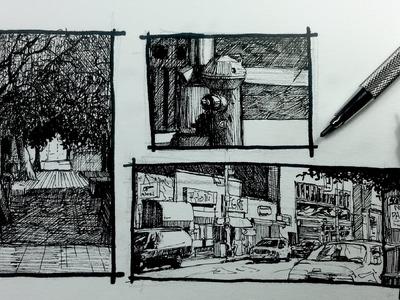 Urban Sketching Series Pt 2 | 3 ways to frame your Scene