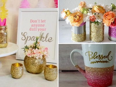 ????21 Quick and Easy DIY Glitter Decor Ideas - DIY Glitter Crafts 2017????