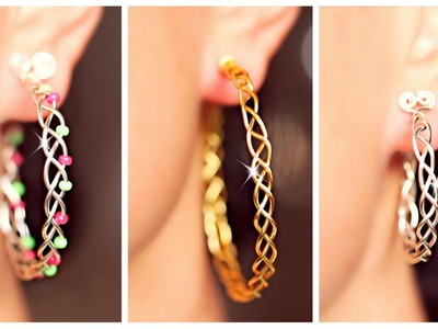 3 EASY braided earrings! | Earrings DIY | SIMPLE DIY