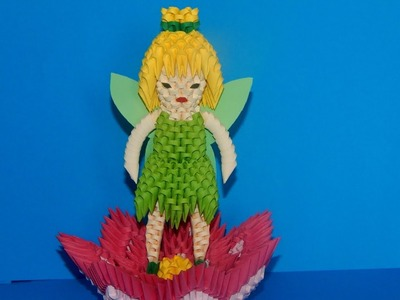 3D Origami  Tinker Bell Fairy tutorial part1 | DIY paper  Tinker Bell Fairy
