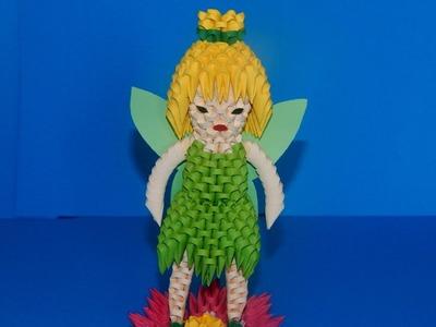 3D Origami  Tinker Bell Fairy tutorial part2 | DIY paper  Tinker Bell Fairy